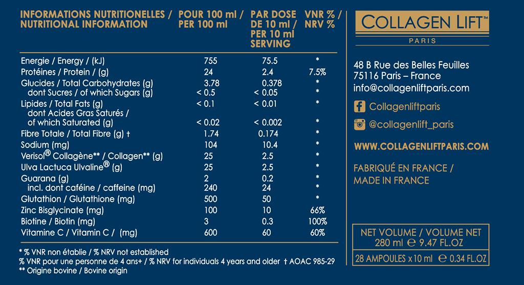 Collagen Lift 'MEN'   Collagen Lift Paris