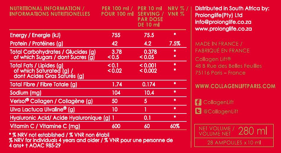Collagen Lift 'Red Carpet' | Collagen Lift Paris