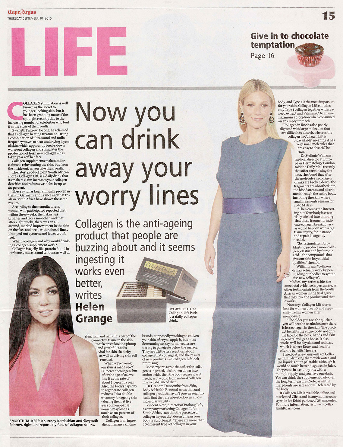 life-newspaper-article-media-collagen-lift-paris Media Release